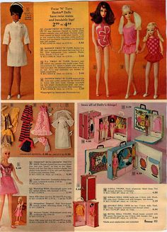 Twist 'n Turn Julia, Barbie, P.J. and Skipper Dolls, Francie Fashions, Growin' Pretty Hair Francie and Doll Cases from the J.C. Penney Christmas Catalog, 1970
