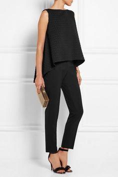 Trend To Wear: Erdem - Joelle houndstooth matelassé top alles für Ihren Erfolg - www. Mode Outfits, Casual Outfits, Fashion Outfits, Dress Casual, Fashion Mode, Work Fashion, Fashion Black, Trendy Fashion, Couture Fashion