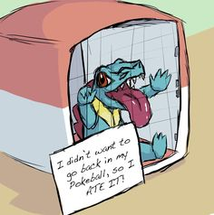 Totodile is not at all sorry Pokemon shaming Pokemon W, Pokemon Photo, Pokemon Comics, Pokemon Funny, Pokemon Memes, Pokemon Fan Art, Pokemon Cards, Pokemon Stuff, Funny Pokemon Fusion