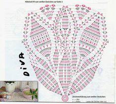 Crochê Decora & Veste: 70 Modelos de Toalhinhas/Centrinhos de Mesa com Gráficos #1 Zig Zag Crochet, Crochet Art, Crochet Squares, Love Crochet, Irish Crochet, Crochet Doily Diagram, Crochet Motif, Doily Patterns, Crochet Patterns