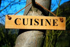 Lovely  rustic  Cuisine  sign in natural wood by Josrusticsigns, €18.00