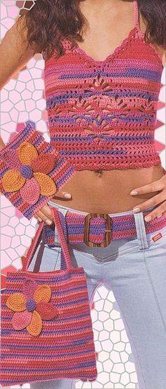 crocheted halter top pattern
