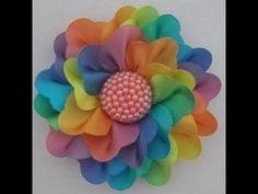 Flor de cetim com várias opções de pétala - Modelo Rosa Valentina - YouTube