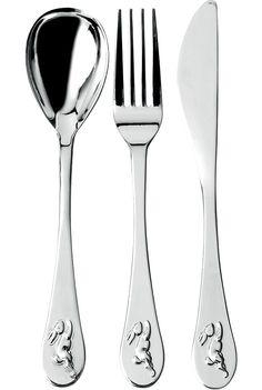 ROYAL DOULTON - Bunnykins silver-plated cutlery set | Selfridges.com