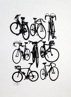 Free Form Charts 6 | Bicycle Paintings, Prints and Custom Bike Art Portraits