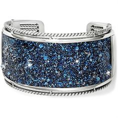 Brighton Crystal Medley Double Hinged Bangle Bracelet