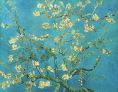 """Almond Blossom 1890 – oil on canvas """"This painting was greatly inspired by Japanese art. It was made as a present for Theo van Gogh and his wife, who had just had a baby. This was the reason van Gogh. Vincent Van Gogh, Van Gogh Arte, Van Gogh Pinturas, Art Amour, Van Gogh Almond Blossom, Art Van, Van Gogh Paintings, Hanging Paintings, Canvas Paintings"""