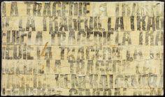Gil J Wolman, Untitled (La Tragédie)  (1966), via Artsy.net    WORD