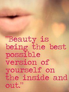 Beauty is beeing yourself