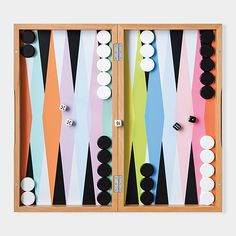 This colorful backgammon set from MoMA is a perfect match for the Family Love Tree furniture I like