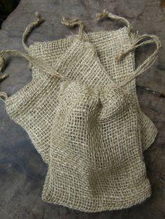 Loose weave Burlap bags 12 for $6.48