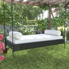 6 Lovely Porch Swing Ideas for Every Season - These porch swing ideas are clearly great year-round. All you want to do is snuggle up on your new porch and relish your perfect perch. Living Room Furniture, Home Furniture, Antique Furniture, Furniture Storage, Outdoor Furniture, Porch Bed, Modern Daybed, Outdoor Daybed, Outdoor Swing Beds