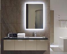 Backlit bathroom Mirror Size: h:24 x w:32 x d:2 inches