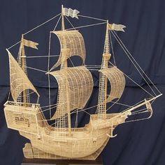 Ship made of toothpicks