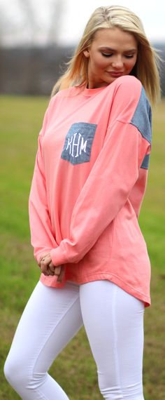 So cute, So comfy! We love this Monogrammed Jersey!!