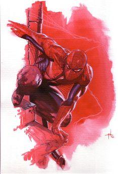 Spider-Man by Gabriele Dell'Otto Spiderman Pictures, Spiderman Art, Amazing Spiderman, Marvel Comic Universe, Marvel Art, Marvel Dc Comics, Comic Book Artists, Comic Artist, Comic Books Art