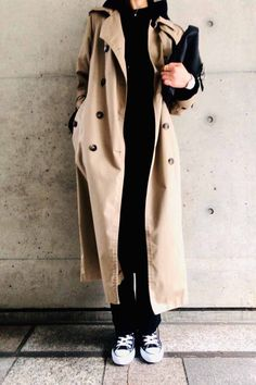 Fall Fashion Outfits, Casual Summer Outfits, Mode Outfits, Love Fashion, Winter Fashion, Womens Fashion, Trench Coat Outfit, Trench Coat Style, Slouchy Outfit