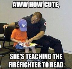 I am a firefighter from a firefighter family, My boyfriends a cop family all the way ... his uncle just sent me this, too funny not to share