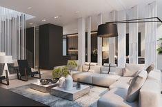 Таунхаус в Потапово - Интерьер в современном стиле с Vitra | PINWIN - конкурсы для архитекторов, дизайнеров, декораторов