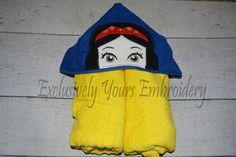 Apple Princess Hooded Towel/Raven Hair/Ruby Lips/Pale Princess - pinned by pin4etsy.com