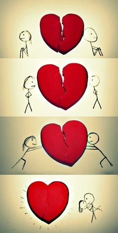 How to mend a broken heart Source by rickyfcosta How To Fix A Broken Heart, Mending A Broken Heart, Real Love, I Love You, My Love, Real Simple, Abrazo Virtual Gif, Meaning Of Love, Love Drawings