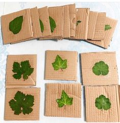 Reposted from ( - DIY Montessori Memory Leaf Cards 🍃 Brilliant idea by 💚🍃Check out her feed for all the details 🙌🏻 . Tag us and use the hashtag for a chance to feature your recycled craft, art or activity! Forest School Activities, Nature Activities, Outdoor Activities For Kids, Outdoor Learning, Spring Activities, Outdoor Education, Montessori Toddler, Montessori Activities, Preschool Activities