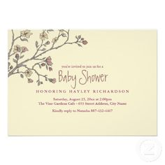 Modern Garden Baby Shower Invitation