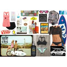 Surfer chic by thebagtique on Polyvore featuring maurices, lululemon, Reef, Milly, Roxy, Chan Luu, La Preciosa, Juicy Couture, Oakley and Korres