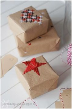 DIY Holiday Ideas – Hand Embroidered Boxes & Tags