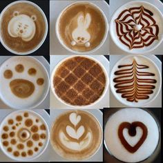 How cute are these? Which latte art is your favorite? #coffee # MrCoffee