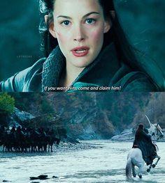 I love Arwen to death! Legolas, Thranduil, Gandalf, The Hobbit Movies, O Hobbit, Aragorn And Arwen, Arwen Undomiel, Concerning Hobbits, The Two Towers