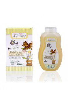 Delikatny płyn do kąpieli i szampon 2w1 z proteinami ryżu i ekstraktem z hibiskusa dla dzieci 400ml Baby Anthyllis