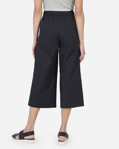 The Cotton Poplin Culotte - Everlane