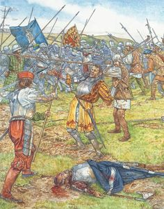 C+D:The death of James IV of Scotland on Flodden September Osprey Publishing, Celtic Culture, Political Posters, Landsknecht, Military Units, 16th Century, Middle Ages, Warfare, Soldiers