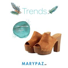 Inspirada en los cánones de la década más bohemia y hippy de los años 70, os mostramos nuestros mules, una tendencia que capta a la perfección el estilo vintage de la moda más seventy.  Trends by MARYPAZ    Compra ya estos MULES aquí ► http://www.marypaz.com/mule-de-tacon-y-plataforma-con-tachuelas-0424216v799-74047.html