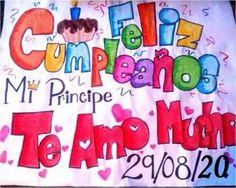 pancartas de feliz cumpleaños para mi novio