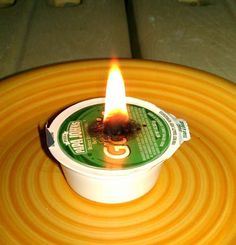 HAHAHA, Make your date night at Papa Johns more romantic with this DIY Candle from their garlic sauce.