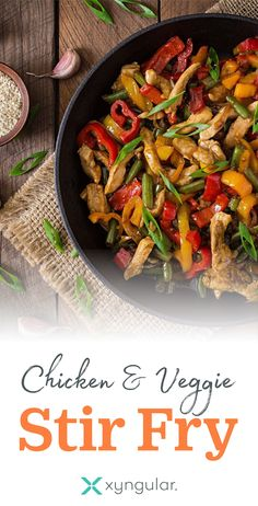 A healthy Chicken & Veggie Stir Fry recipe approved for the Jumpstart and Low Carb meal plans. #BakingSodaForDandruff