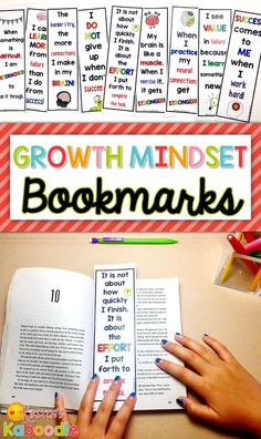 These Growth Mindset Bookmarks are perfect for any 2nd-6th grade classroom! Are you teaching your students about growth mindset and fixed mindset? Create a culture of success, perseverance, and motivation with these growth mindset bookmarks.