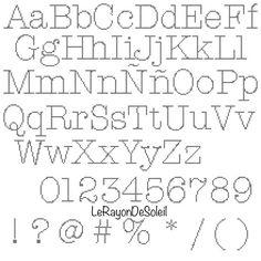Cross stitch pattern alphabet font American typewriter PDF Instant download