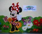 Minnie,painéis em mdf para mesa e chão de festas infantil.