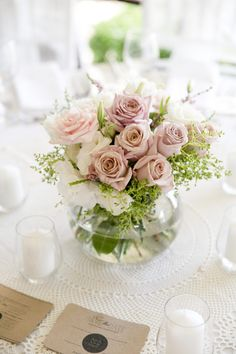 Beautiful Wedding Reception Decoration Ideas - Put the Ring on It Bridal Shower Centerpieces, Floral Centerpieces, Reception Decorations, Flower Decorations, Centerpiece Ideas, Wedding Reception Flowers, Floral Wedding, Chic Wedding, Wedding Flower Arrangements