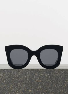 2abe3d9c40eb Marta Sunglasses in Black Acetate with Grey Lenses I want these so bad.  Wish the lenses were darker though