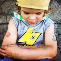 #kombilife Wearing Tattly Tattoos and Beau Hudson Beanie www.sodashop.com.au