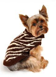 FeatherSoft Zebra Sweater- Shop By Designer - Hip Doggie Posh Puppy Boutique