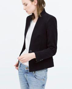 VELVETEEN BLAZER WITH NO LAPEL-Blazers-Jacket-WOMAN | ZARA United States