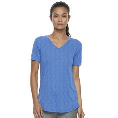 Women's Tek Gear® Easy Burnout V-Neck Yoga Tee, Size: