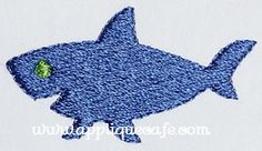 Mini Embroidery Shark