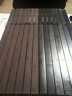 cabot deck stain in semi solid bark mulch half stained best deck stains pinterest barking. Black Bedroom Furniture Sets. Home Design Ideas