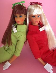 Two OOAK TnT Barbie dolls by Virgin-Archer, via Flickr
